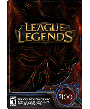 $100 League of Legends Game Card (Email Delivery)