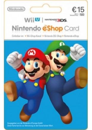 15€ Nintendo eShop Card (Email delivery)