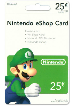 25€ Nintendo eShop Card (Email delivery)