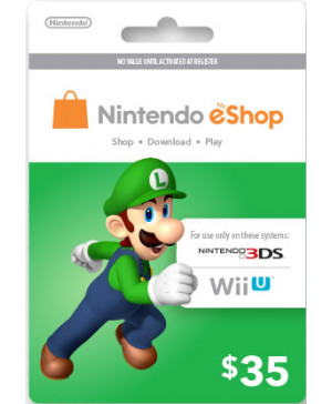 $35 Nintendo eShop Card (Email delivery)