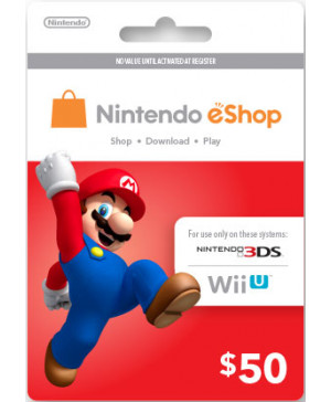 $50 Nintendo eShop Card (Email delivery)