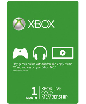 Xbox Live 1 Month GOLD Subscription Card  (Email Delivery)