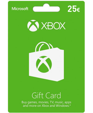 25€ Xbox Live Gift Card (Email Delivery)
